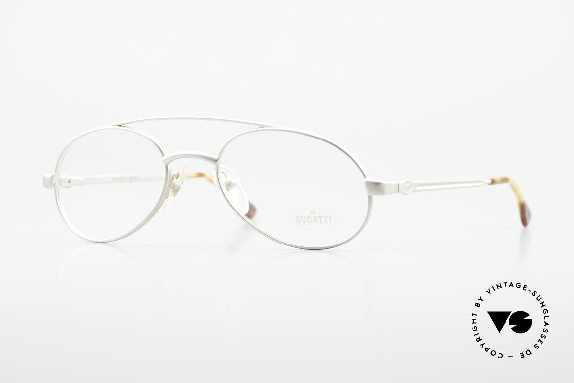 Bugatti 08105 Alte Vintage Brille Herren 80er, alte Bugatti Brille in matt-grau / titanium, 1980er, Passend für Herren