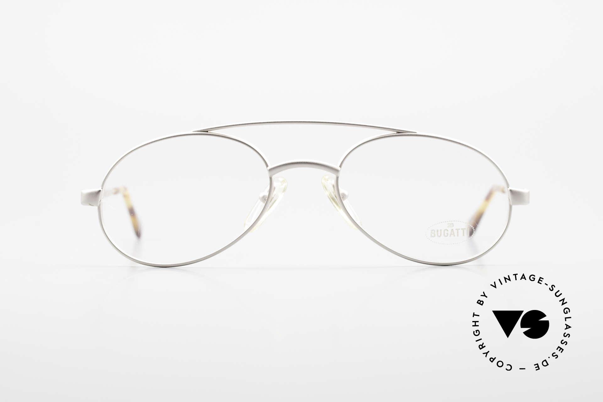 Bugatti 08105 Alte Vintage Brille Herren 80er, charakteristische Bugatti Herrenform; Tropfenform, Passend für Herren