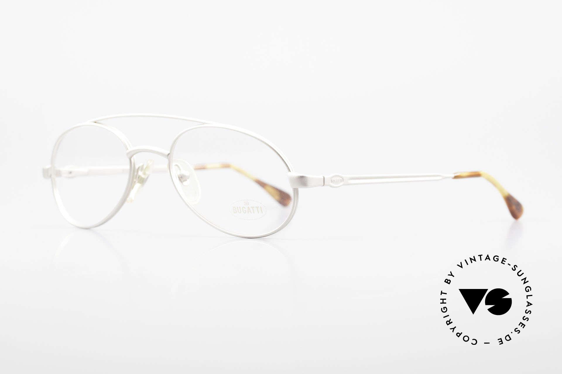 Bugatti 08105 Alte Vintage Brille Herren 80er, Federgelenke und Verarbeitung in höchster Qualität, Passend für Herren
