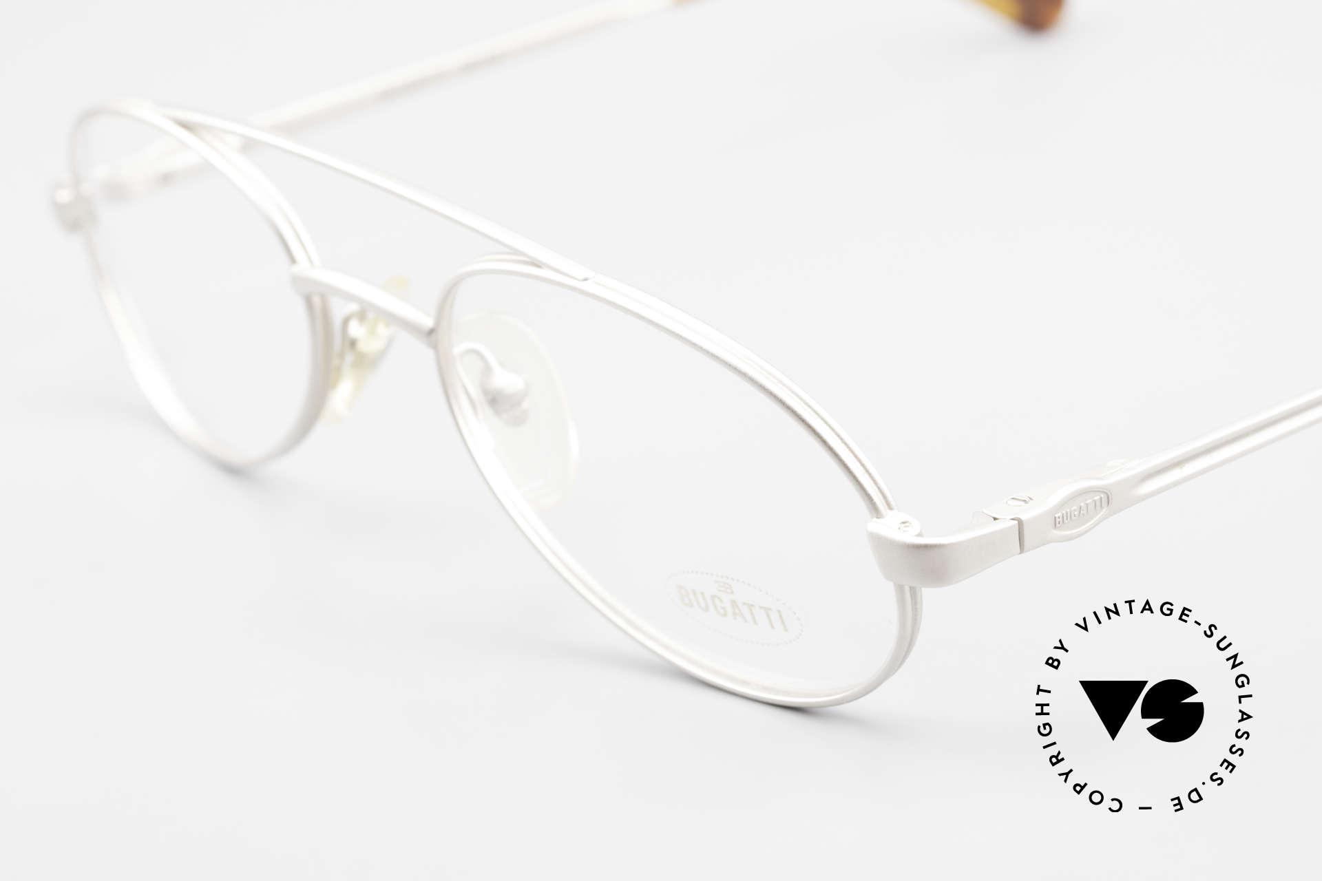 Bugatti 08105 Alte Vintage Brille Herren 80er, ungetragen (wie alle unsere Bugatti vintage Brillen), Passend für Herren