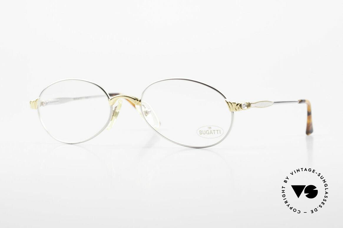 Bugatti 14109 90er Brille Titanium Herren, äußerst elegante BUGATTI vintage Brillenfassung, Passend für Herren