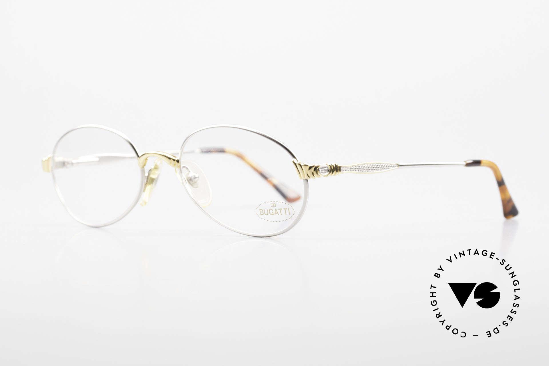 Bugatti 14109 90er Brille Titanium Herren, beste Materialien (Titanium-Bügel) & Verarbeitung, Passend für Herren