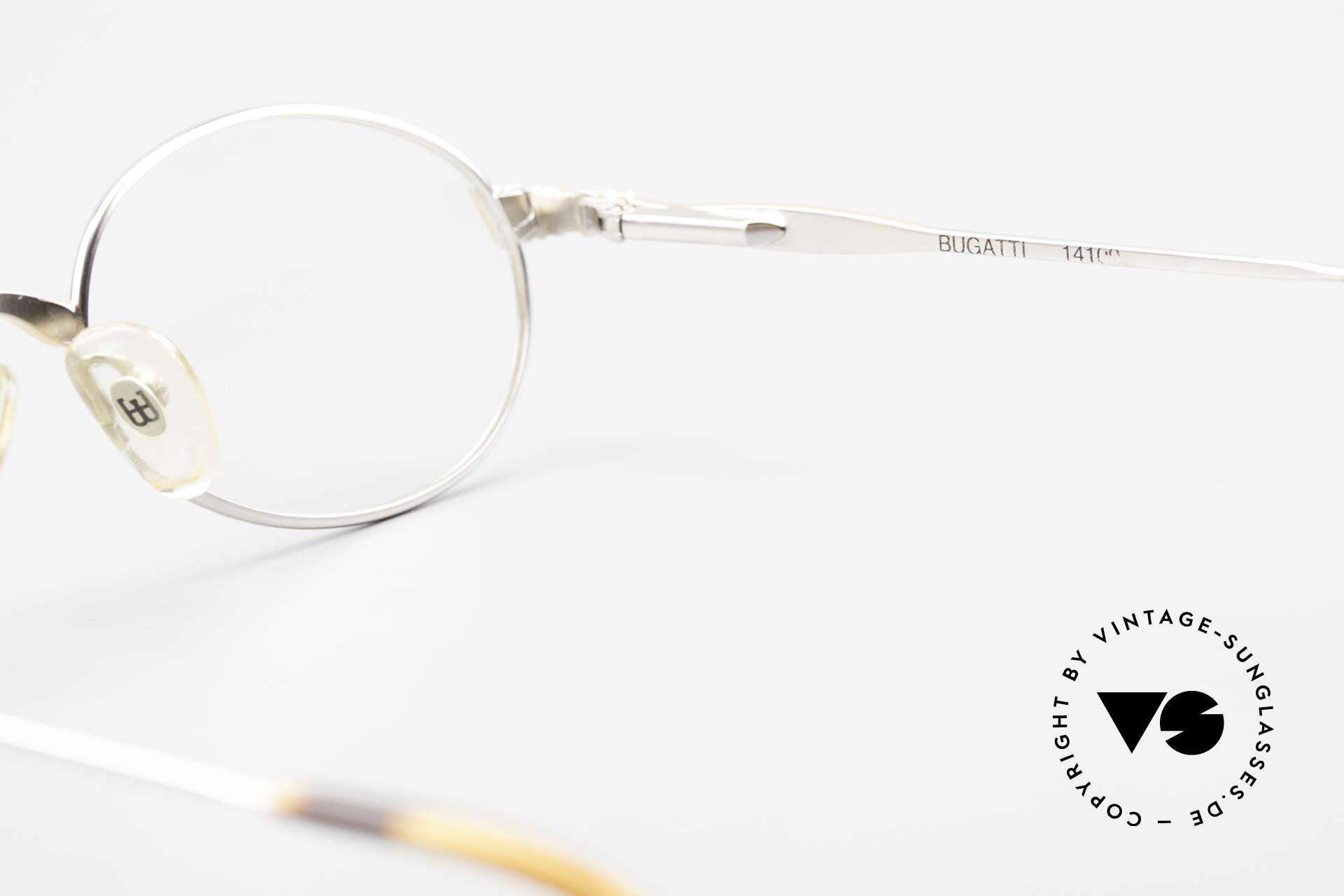 Bugatti 14109 90er Brille Titanium Herren, Größe: medium, Passend für Herren