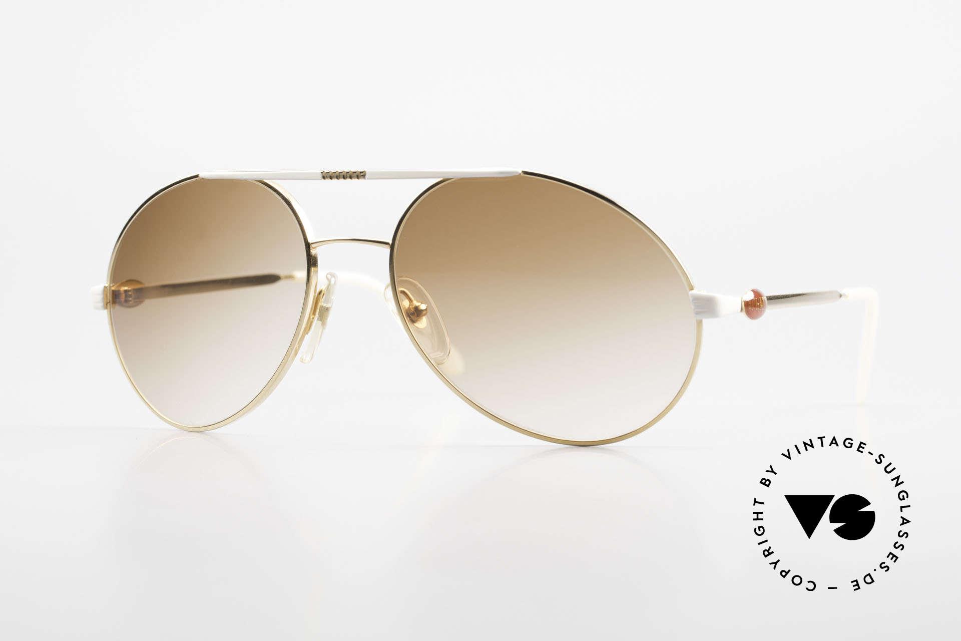 Bugatti 64317 Herren Sonnenbrille Vintage, klassische Herren-Sonnenbrille von Bugatti, 1980er, Passend für Herren