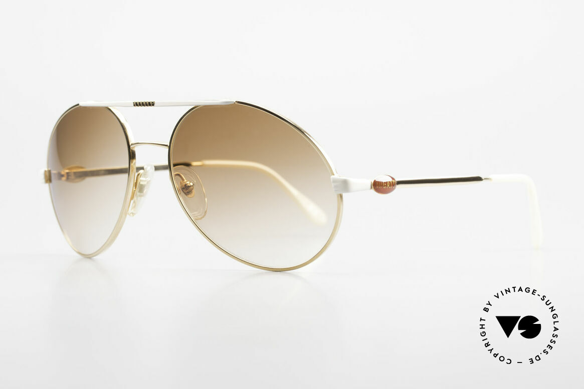 Bugatti 64317 Herren Sonnenbrille Vintage, eine Luxus-Sonnenbrille (vergoldet) in Größe 56mm, Passend für Herren