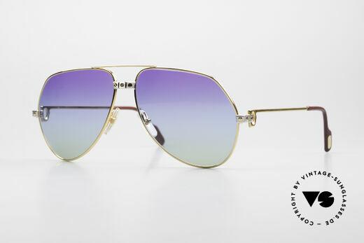 Cartier Vendome Santos - L Einzelstück Polarlicht Violett Details