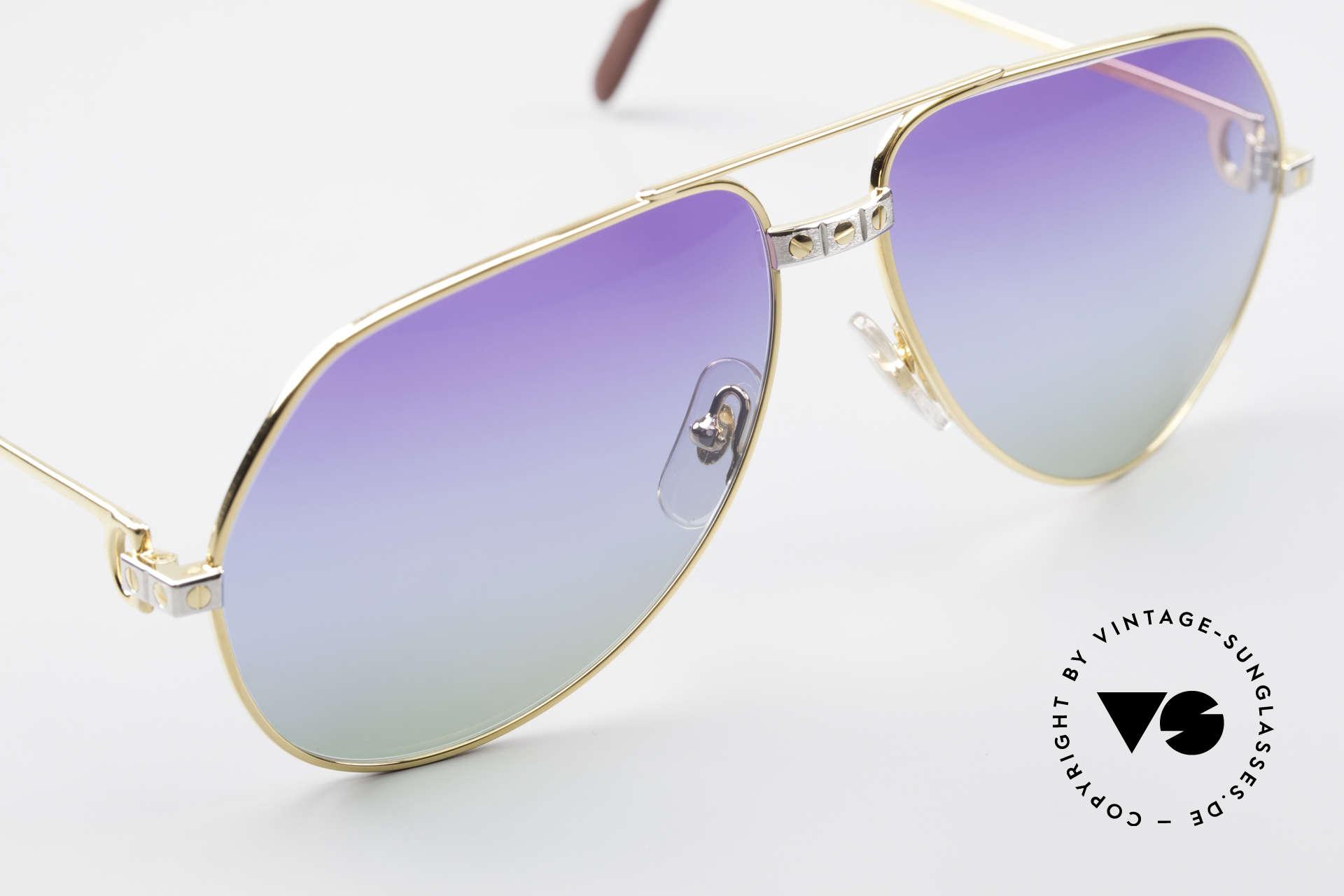 Cartier Vendome Santos - L Einzelstück Polarlicht Violett, Gläser sind eigens gefertigt (sonst nirgendwo erhältlich), Passend für Herren