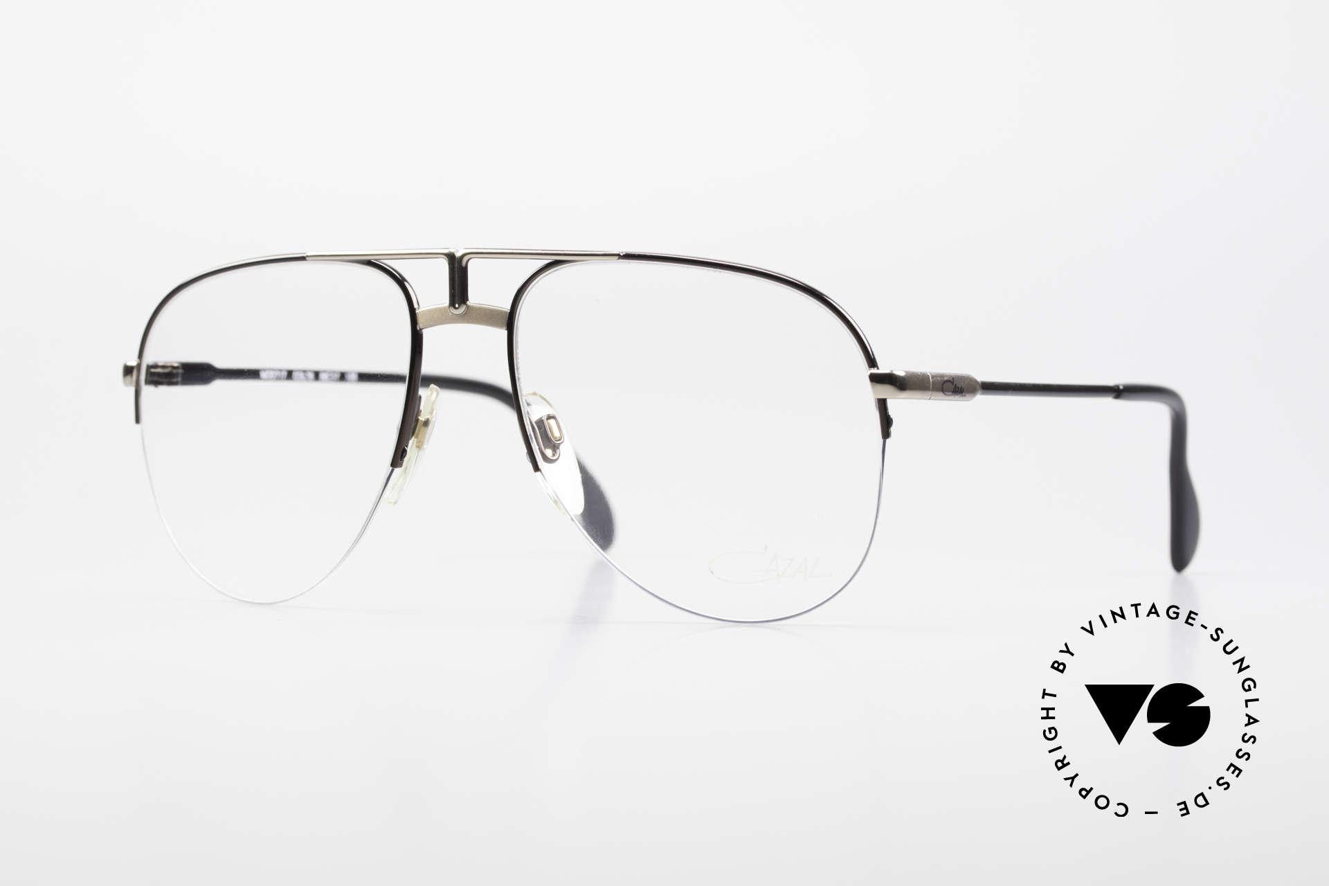 Cazal 717 Alte 80er Brille Halb Randlos, alte West Germany Cazal Brille, VINTAGE, Passend für Herren