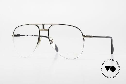 Cazal 717 Alte 80er Brille Halb Randlos Details