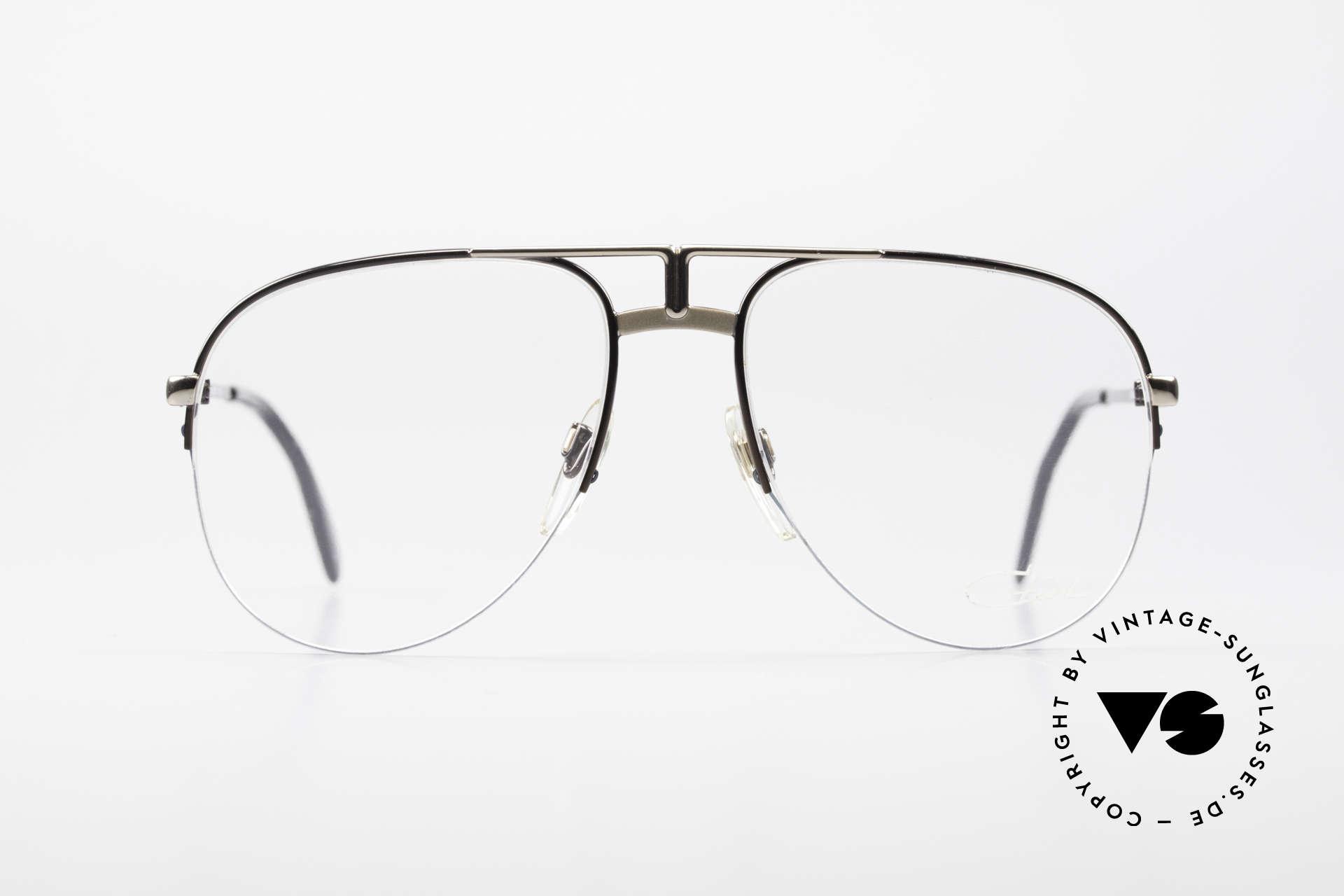 Cazal 717 Alte 80er Brille Halb Randlos, legendäres Pilotenbrillendesign von Cazal, Passend für Herren