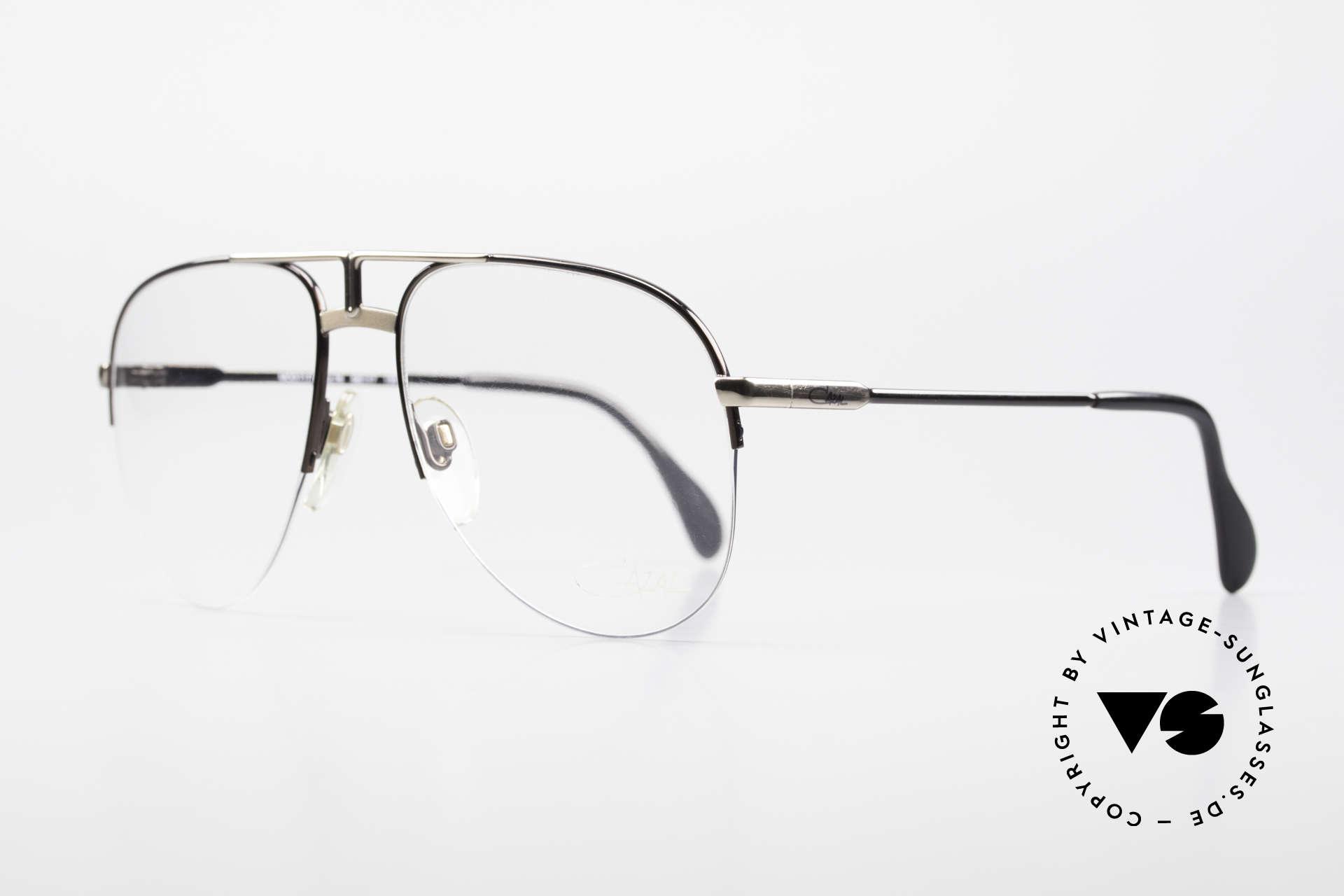 Cazal 717 Alte 80er Brille Halb Randlos, Brille vom großen Designer CAri ZALloni, Passend für Herren