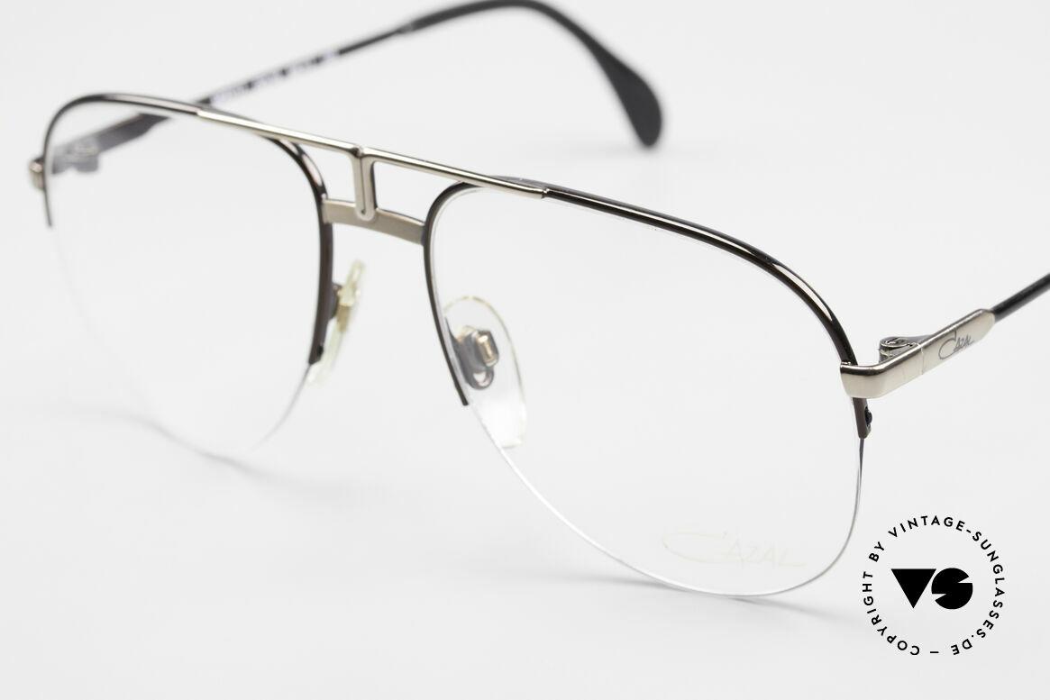 Cazal 717 Alte 80er Brille Halb Randlos, halb rahmenlos (sehr angenehm zu tragen), Passend für Herren