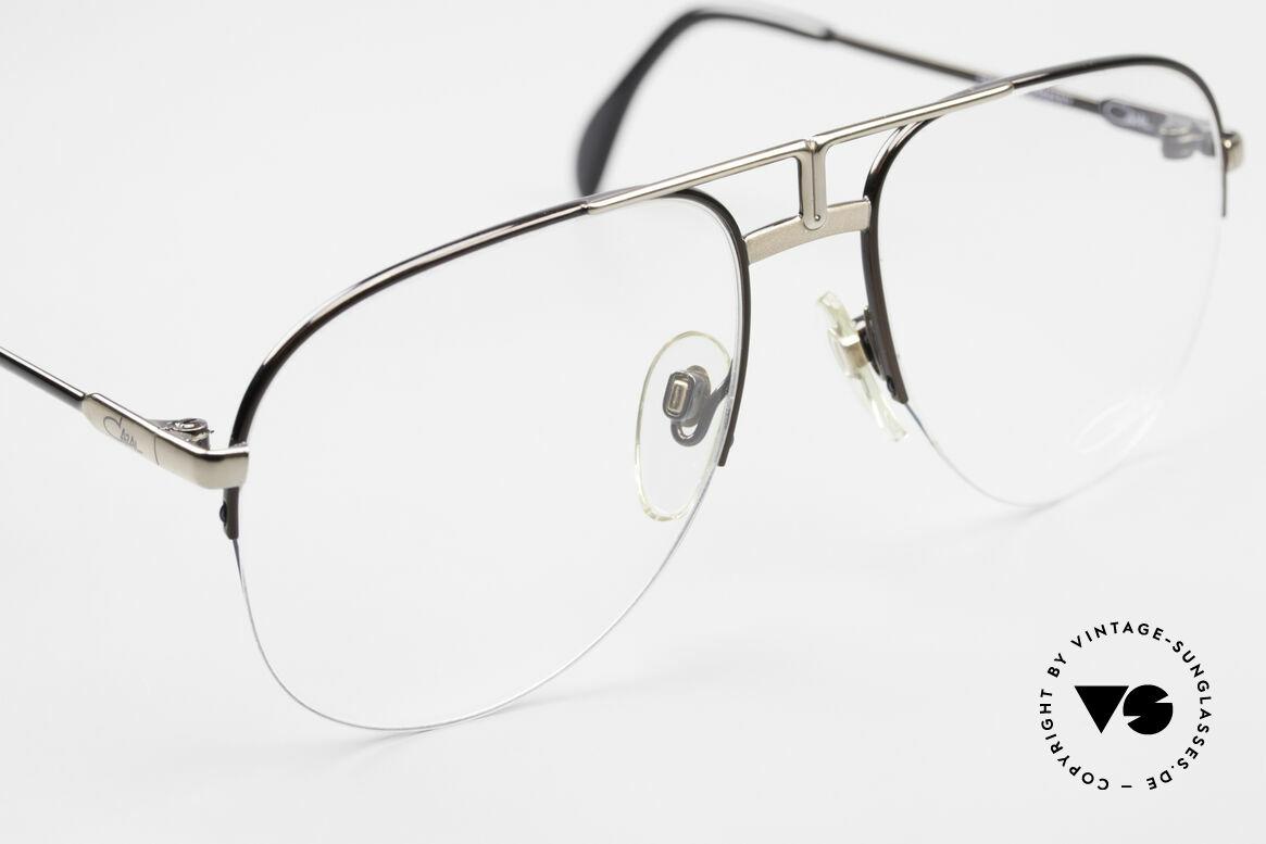 Cazal 717 Alte 80er Brille Halb Randlos, ungetragen (wie alle unsere vintage Cazal), Passend für Herren
