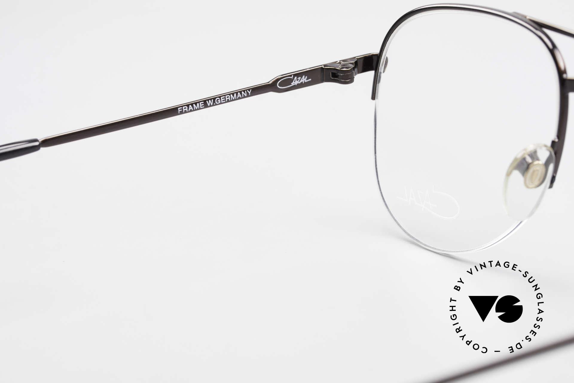 Cazal 717 Alte 80er Brille Halb Randlos, KEINE RETRO-Mode; ein 35J. altes Unikat!, Passend für Herren