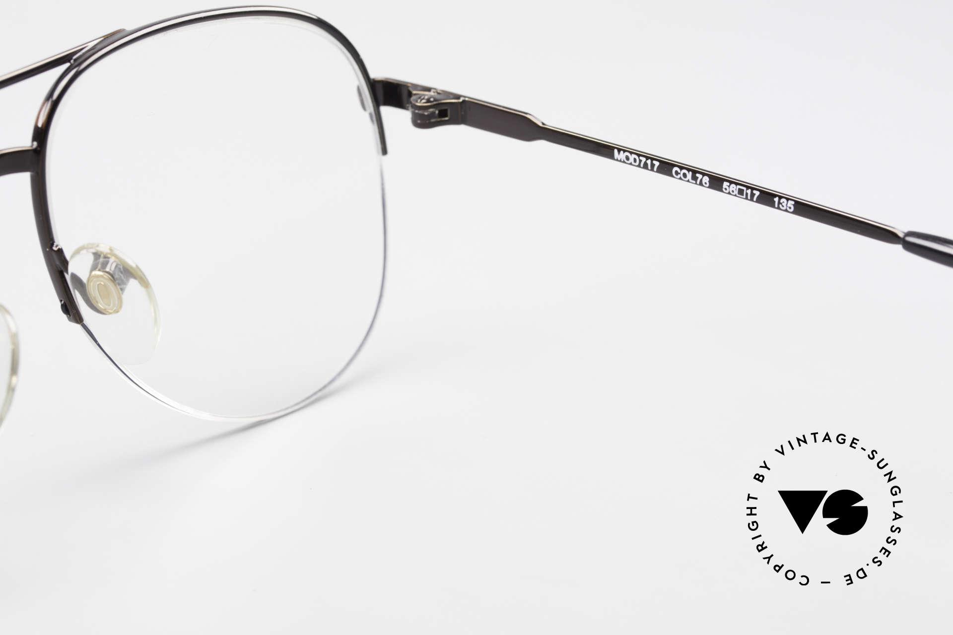 Cazal 717 Alte 80er Brille Halb Randlos, Größe: medium, Passend für Herren