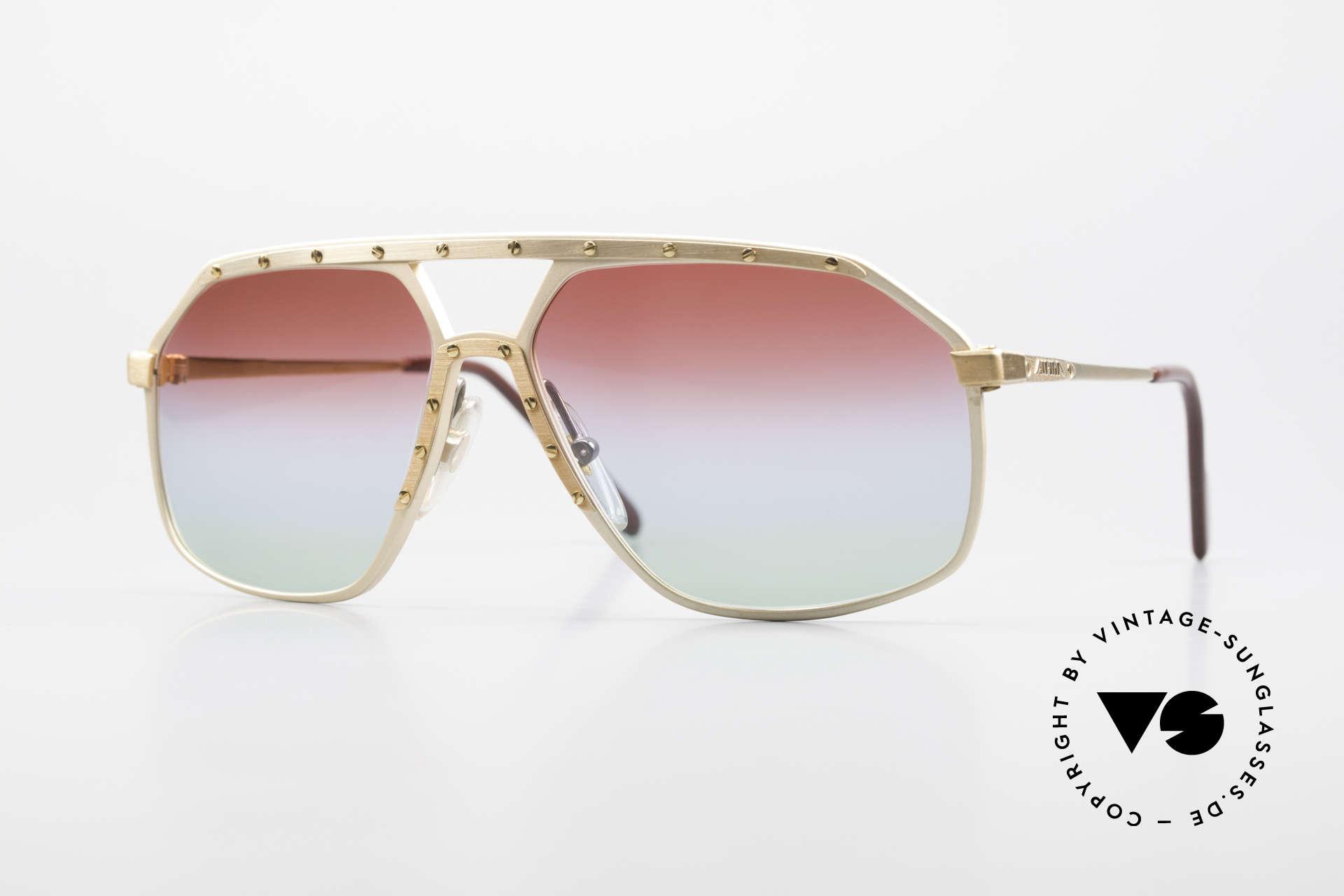 Alpina M6 West Germany Sonnenbrille, alte West Germany Alpina Sonnenbrille, Modell M6, Passend für Herren und Damen