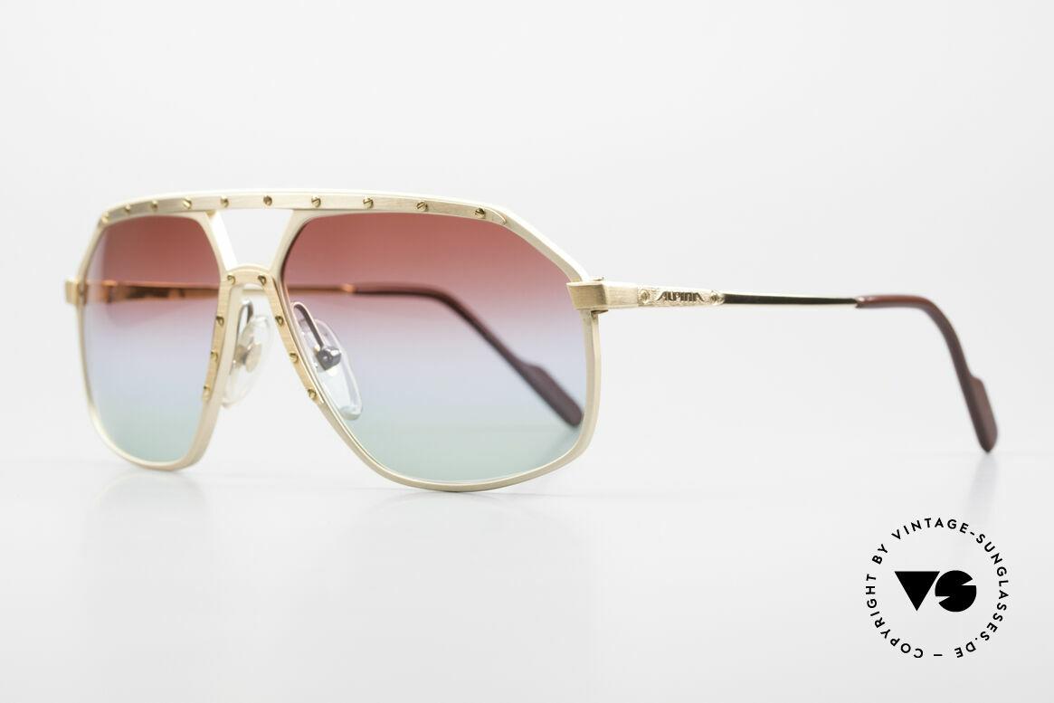 Alpina M6 West Germany Sonnenbrille, mit einzigartigen neuen Gläser mit dreifach-Verlauf, Passend für Herren und Damen