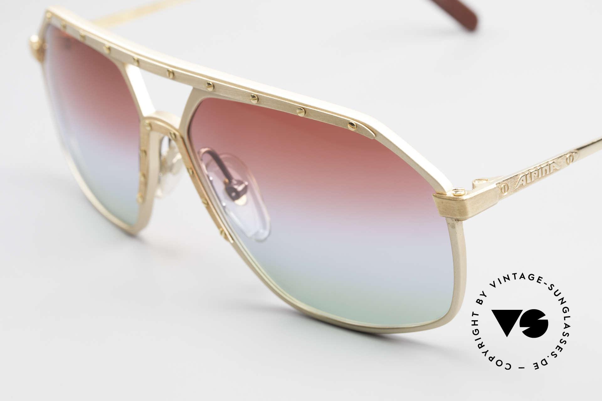 Alpina M6 West Germany Sonnenbrille, Farbverlauf schimmert wie Polarlichter; Einzelstück, Passend für Herren und Damen
