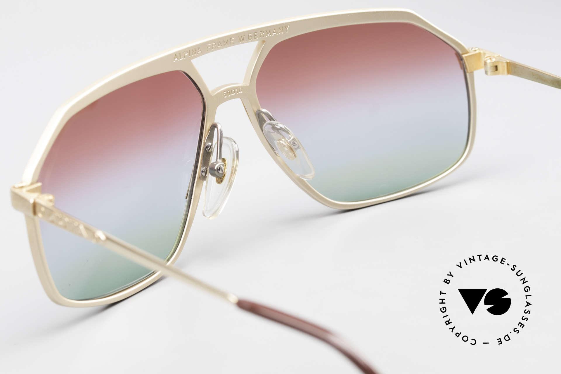 Alpina M6 West Germany Sonnenbrille, KEINE RETRObrille; sondern eine VINTAGE Rarität!, Passend für Herren und Damen