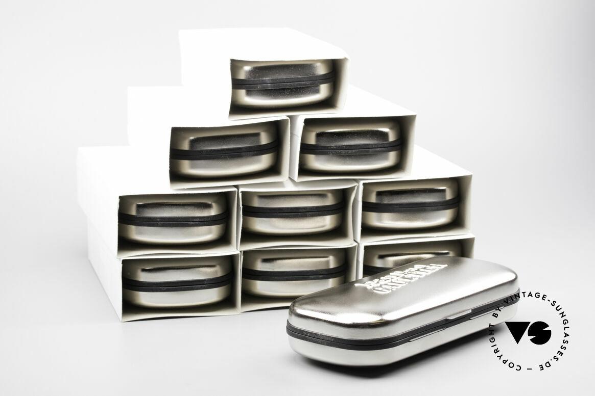 Jean Paul Gaultier 10 Cases Alte Original Gaultier Etuis, sehr solides Hartschalenetui in silber-chrome, Passend für Herren und Damen