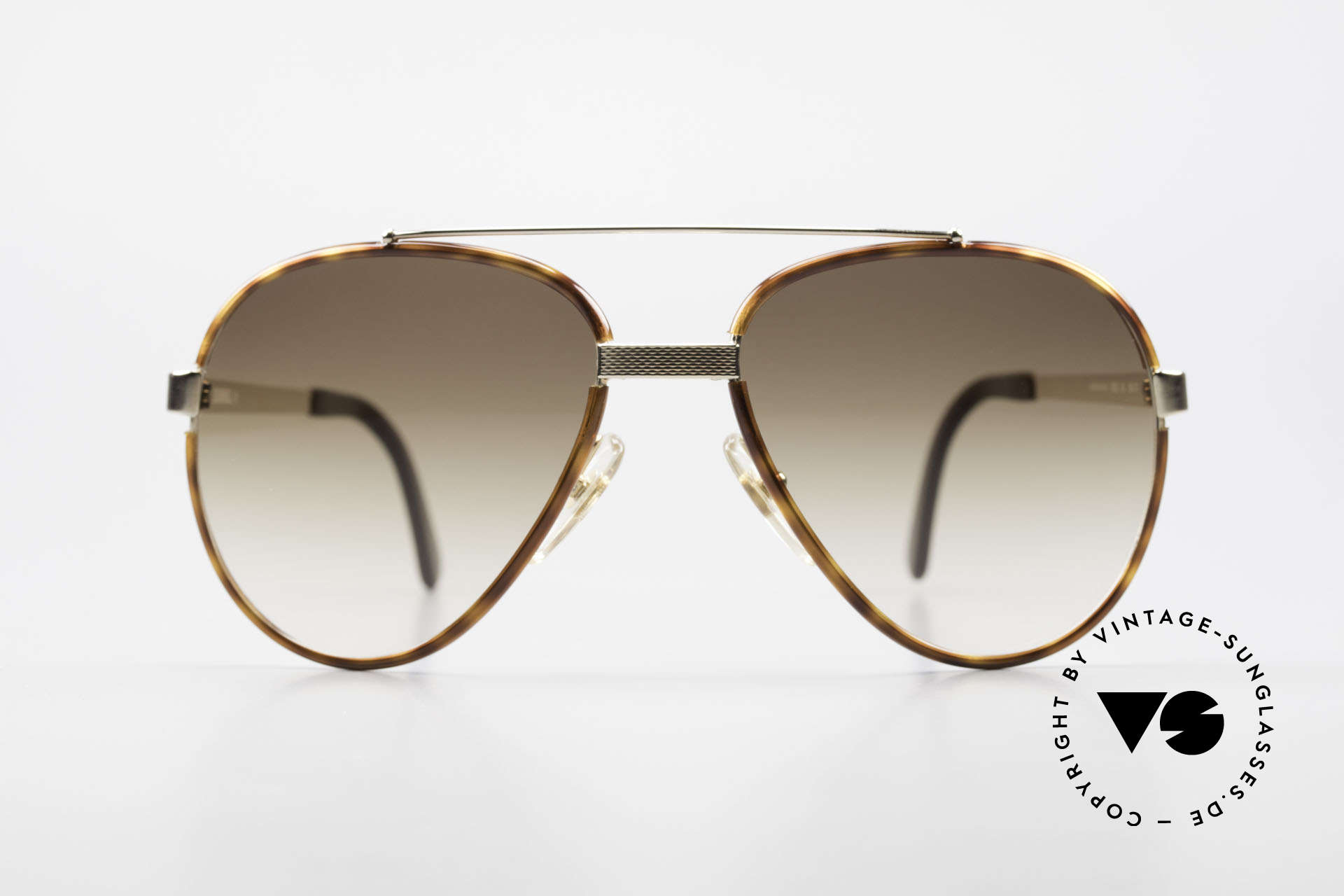 """Dunhill 6023 80er Sonnenbrille Herren Luxus, VERGOLDETE Fassung mit """"Schildpatt"""" Ringen, Passend für Herren"""