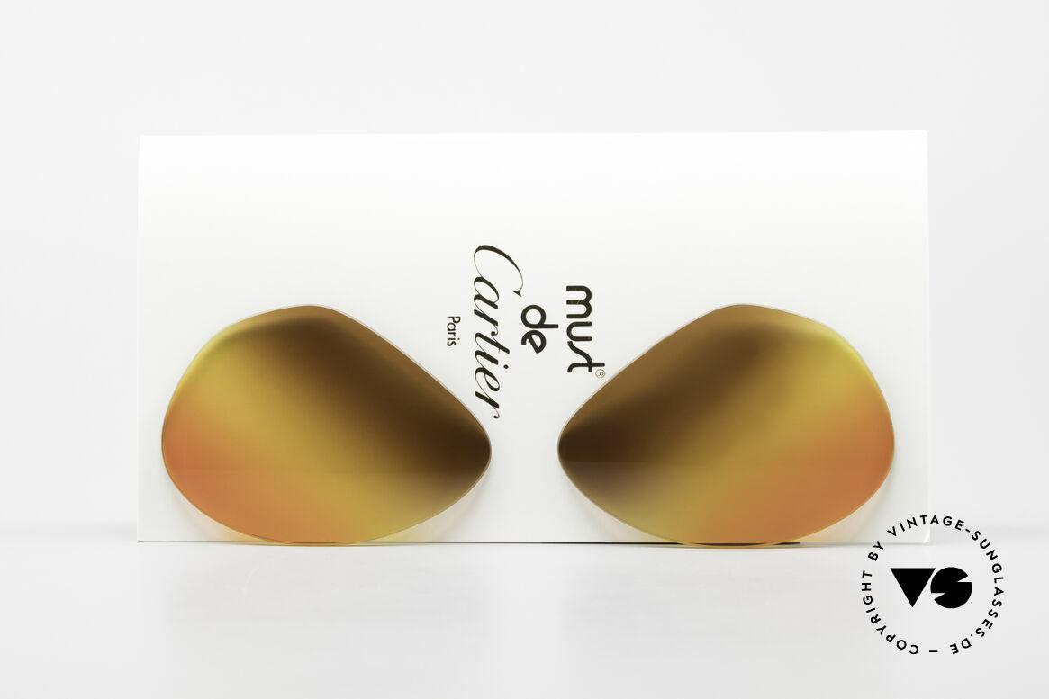 Cartier Vendome Lenses - L 3fach Verlauf Wüstensonne, Ersatzgläser für die alte Cartier Vendome LARGE 62mm, Passend für Herren und Damen