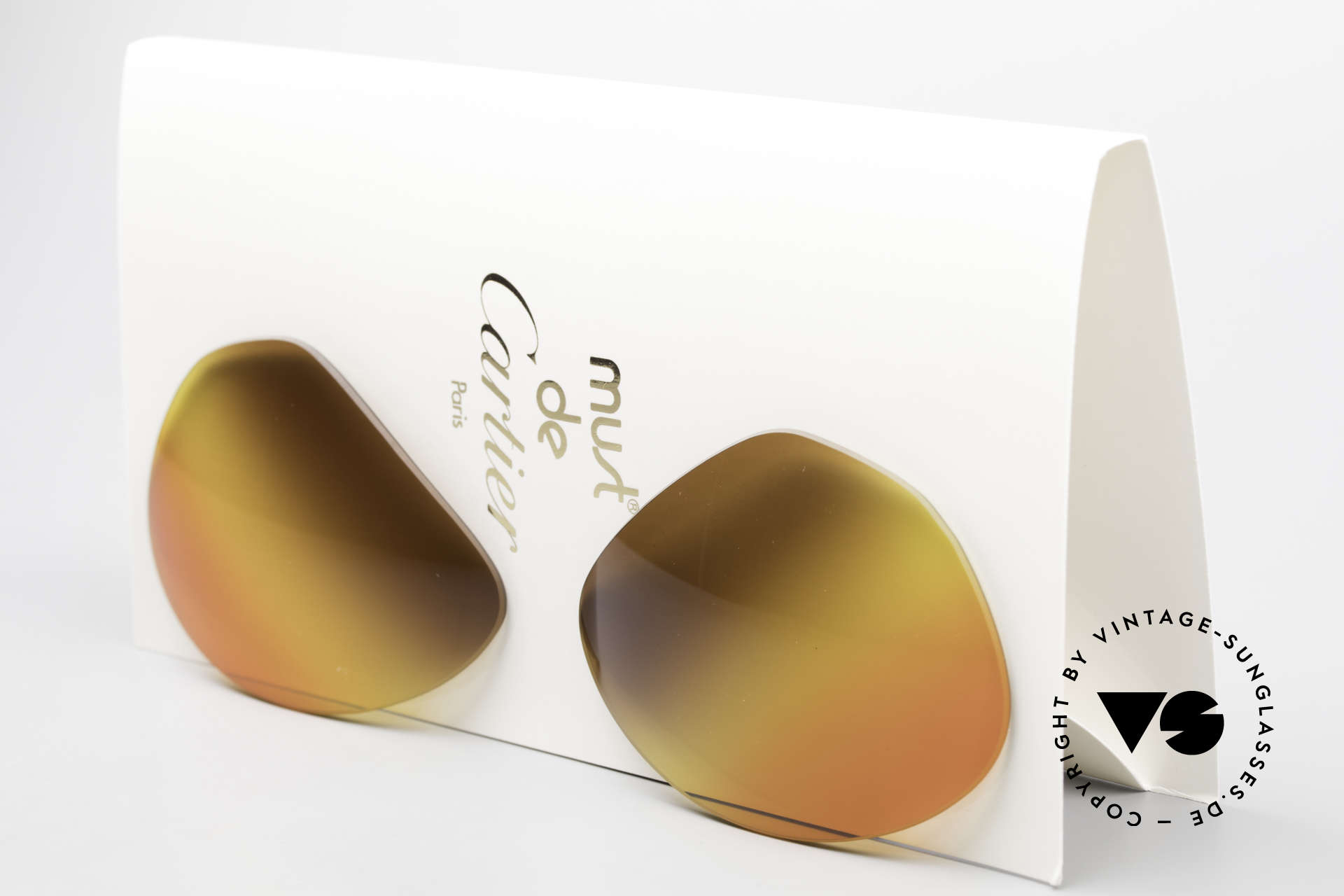 Cartier Vendome Lenses - L 3fach Verlauf Wüstensonne, neue CR39 UV400 Kunststoff-Gläser (100% UV Schutz), Passend für Herren und Damen