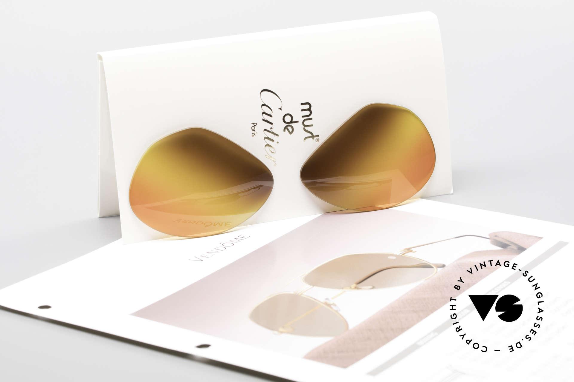"""Cartier Vendome Lenses - L 3fach Verlauf Wüstensonne, besonderer, dreifarbiger Farb-Verlauf (""""Wüstensonne""""), Passend für Herren und Damen"""