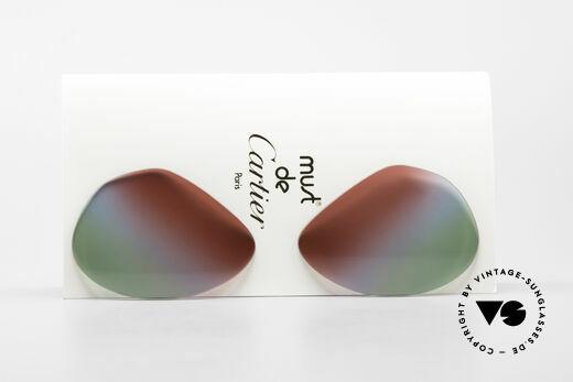 Cartier Vendome Lenses - L Polarlicht Bordeaux Tricolor Details