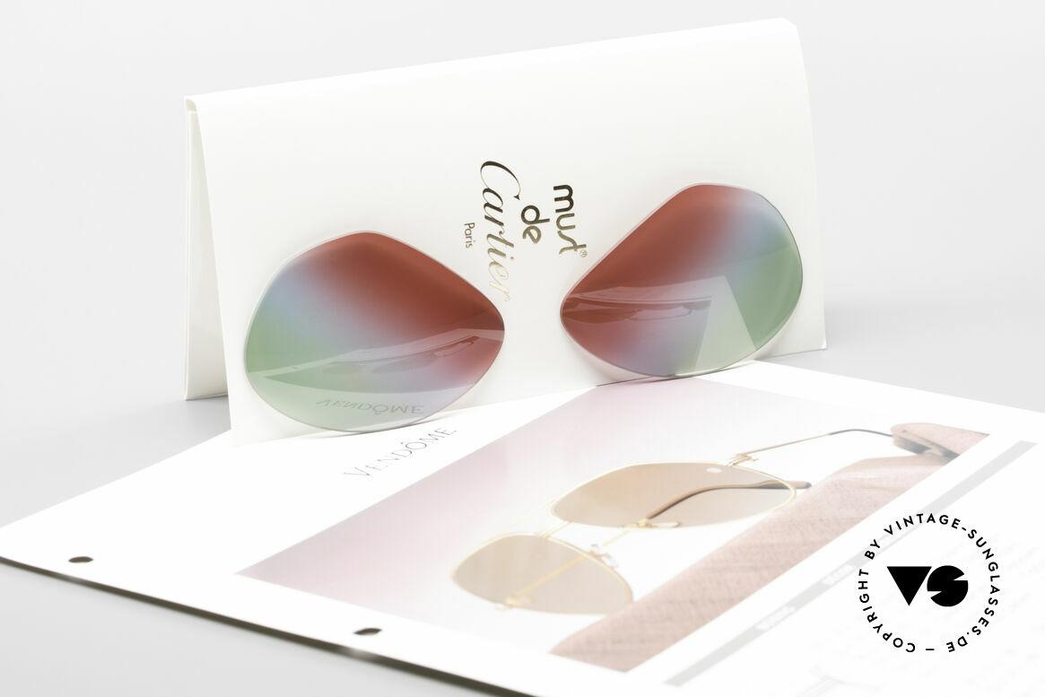 """Cartier Vendome Lenses - L Polarlicht Bordeaux Tricolor, dreifarbiger Farbverlauf (wie """"Bordeaux Polarlichter""""), Passend für Herren und Damen"""