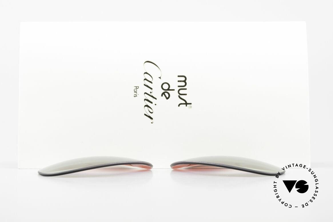 Cartier Vendome Lenses - L Polarlicht Bordeaux Tricolor, von unserem Optiker gefertigt: daher neu & kratzerfrei, Passend für Herren und Damen