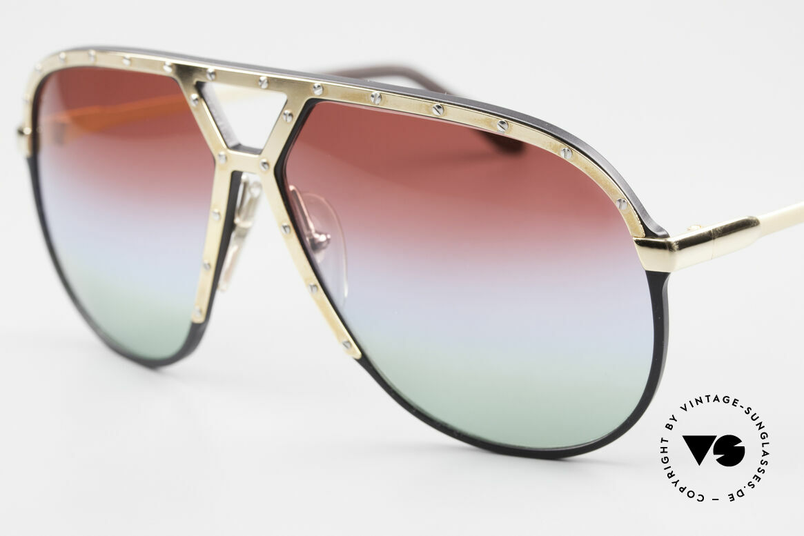 Alpina M1 80er Sonnenbrille Individuell, individuelle Gläser mit 3fach Verlauf 'Polar Lights', Passend für Herren