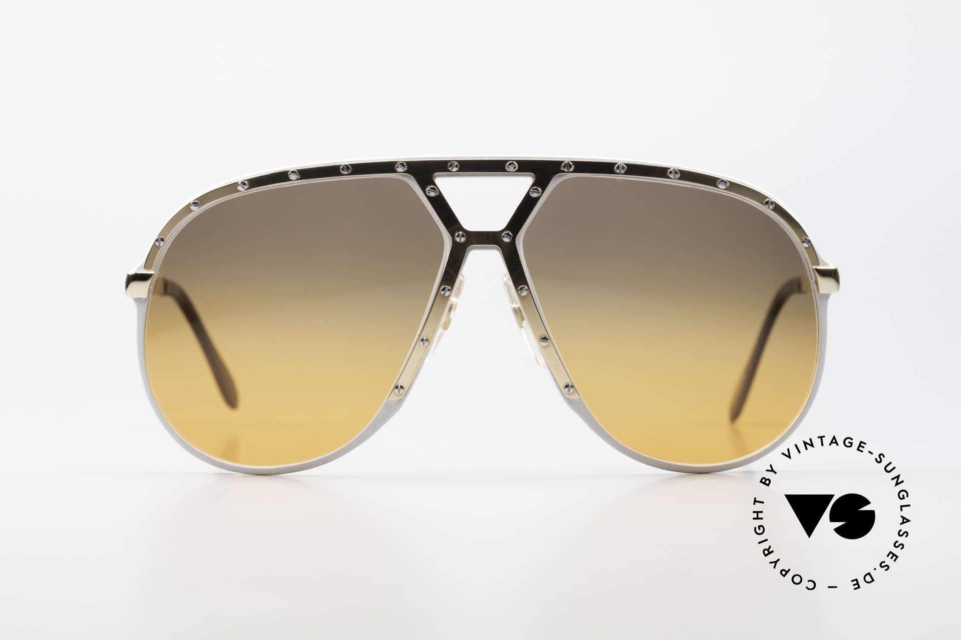 Alpina M1 Customized 80er Sonnenbrille, Stevie Wonder machte diese Brille weltberühmt, Passend für Herren
