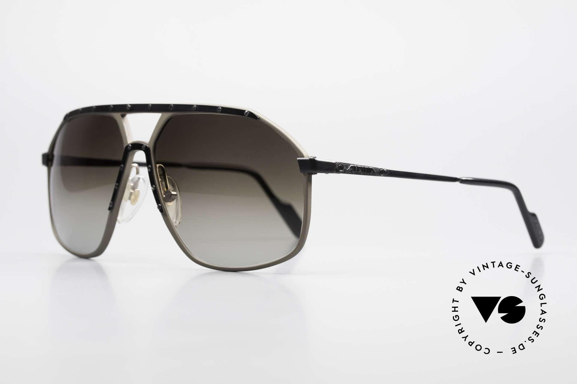 Alpina M1/7 Rare Vintage Sonnenbrille 90er, dann mit Bügelaufdrucken anstatt der Rahmen-Gravur, Passend für Herren