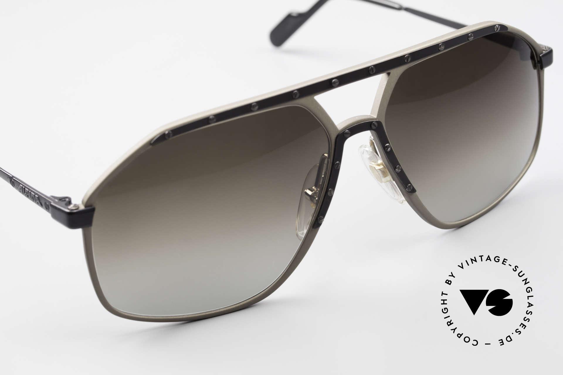 Alpina M1/7 Rare Vintage Sonnenbrille 90er, ungetragenes Modell kommt mit einem BVLGARI Etui, Passend für Herren
