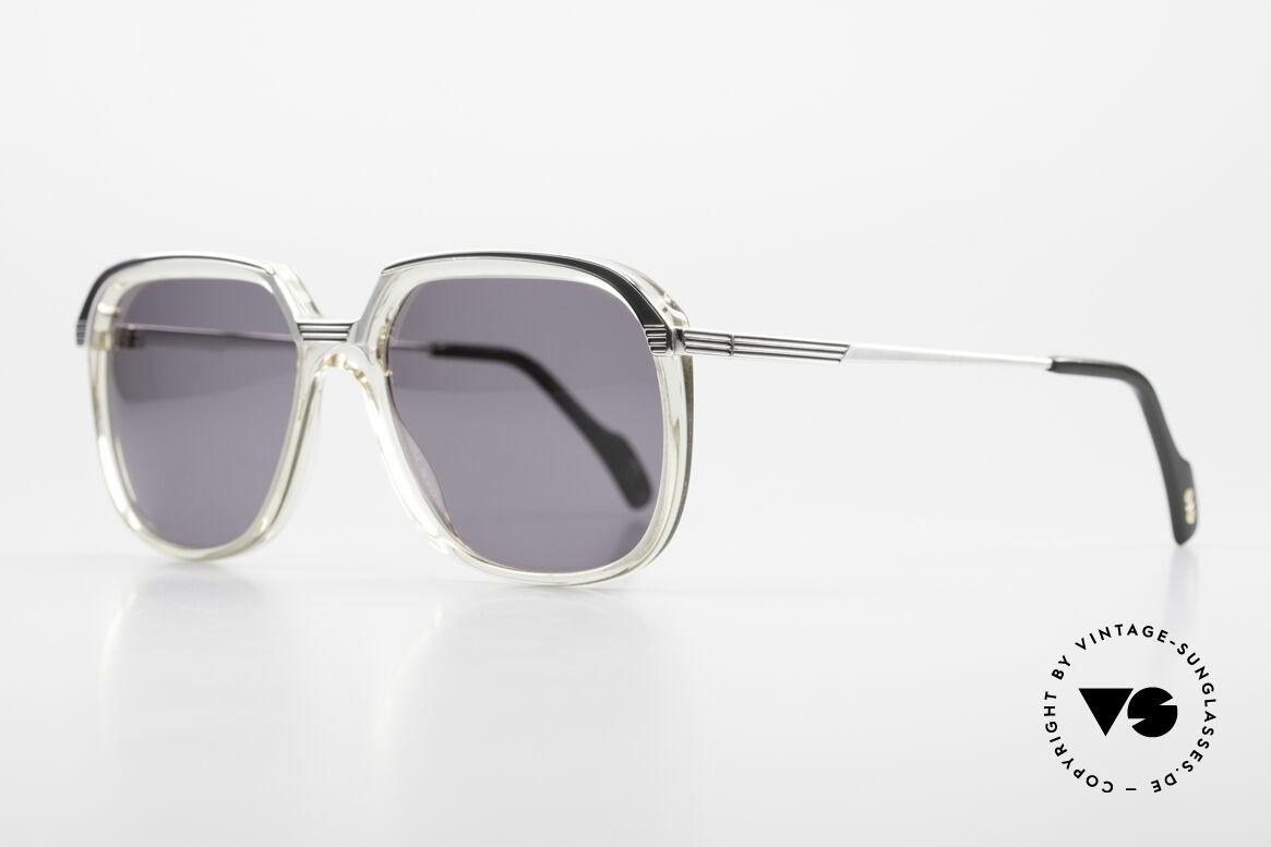 Metzler 6620 Echt 80er Vintage Sonnenbrille, Metallfassung mit fest verschraubten Kunststoff-Front, Passend für Herren