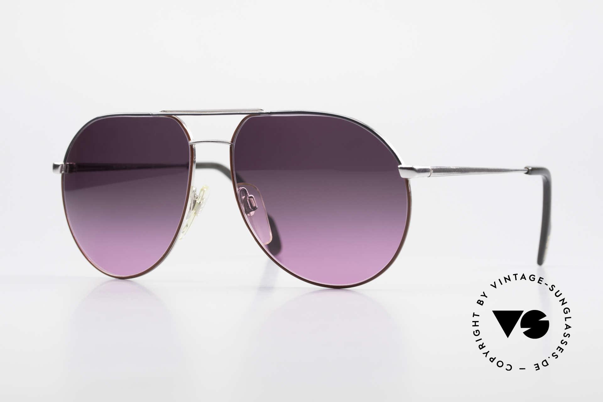 Metzler 0881 Rare 80er Aviator Sonnenbrille, klassische Aviator Sonnenbrille der 80er Jahre, Passend für Herren und Damen