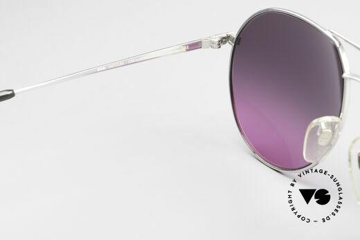 Metzler 0881 Rare 80er Aviator Sonnenbrille, die Fassung ist auch für optische Gläser geeignet, Passend für Herren und Damen