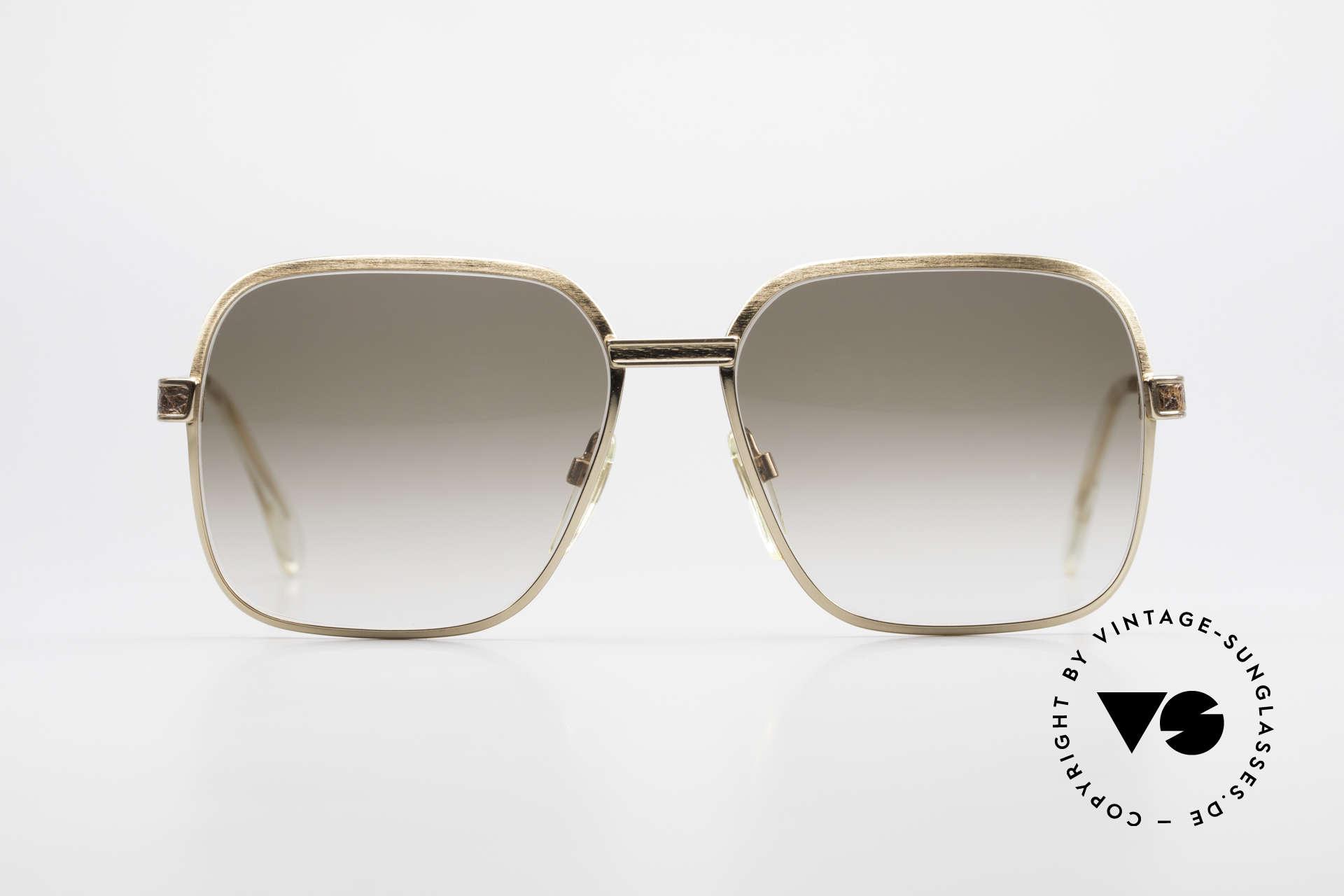 Neostyle Boutique 510 Leder Edition Vergoldet 80er, 80er Luxus-Sonnenbrille mit LEDER-Inlays, Passend für Herren