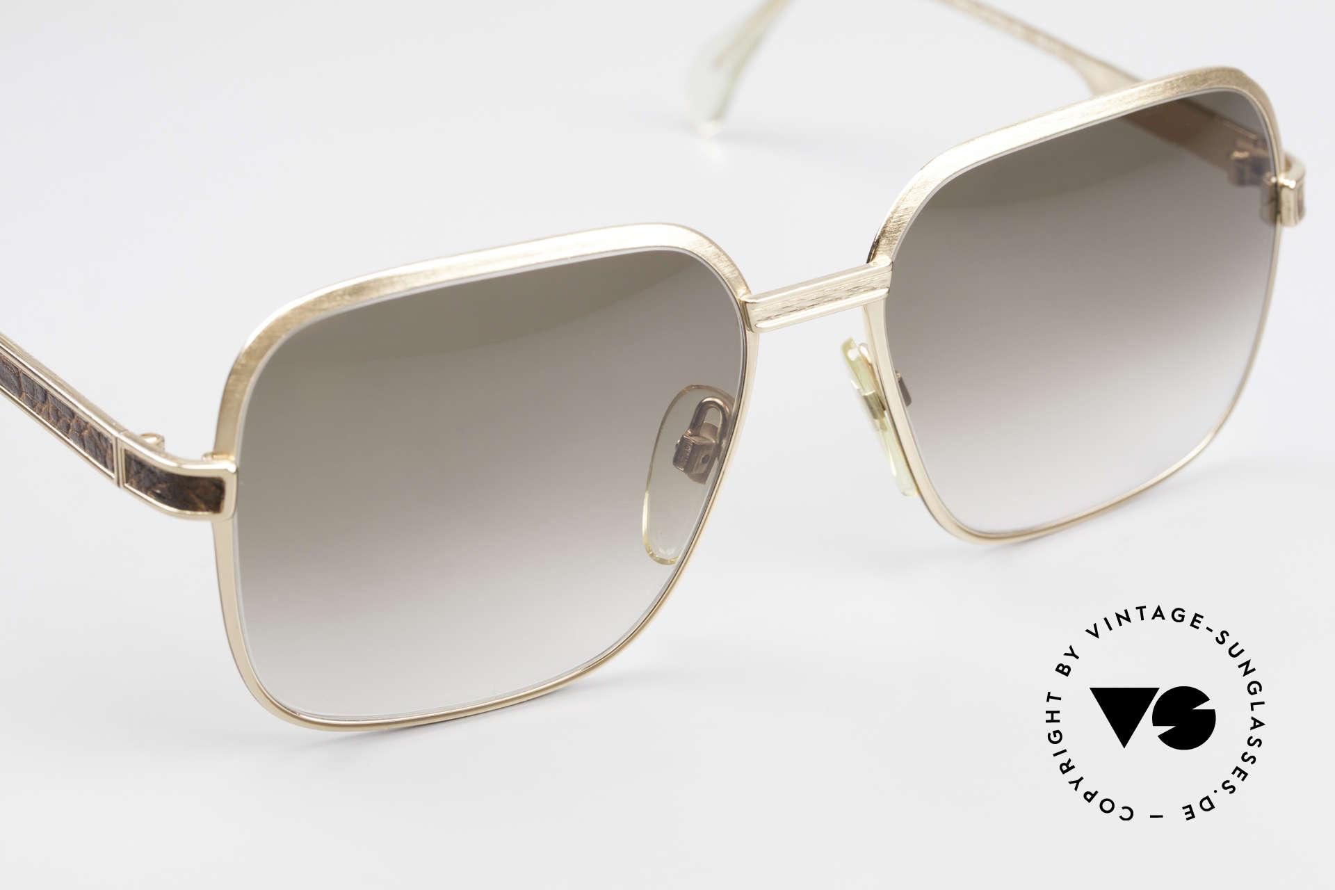 Neostyle Boutique 510 Leder Edition Vergoldet 80er, ungetragen (wie alle unsere Neostyle Brillen), Passend für Herren