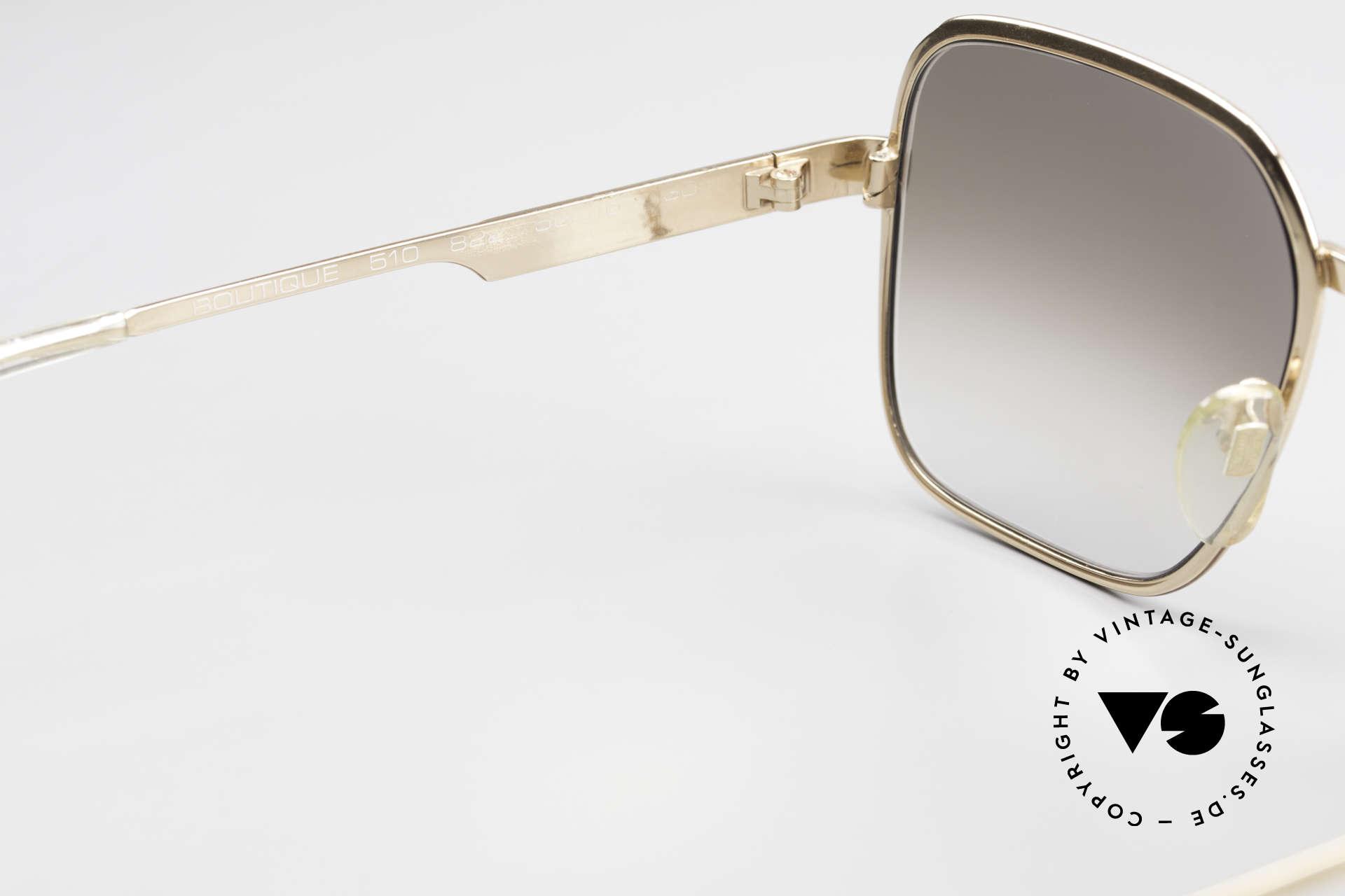 Neostyle Boutique 510 Leder Edition Vergoldet 80er, KEINE Retrobrille, sondern ein 80er Original, Passend für Herren
