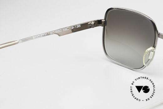 Neostyle Society 190 1980er Haute Couture Brille, sehr interessante Metallfassung (gunmetal / grau), Passend für Herren