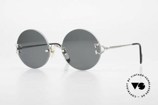 Cartier Madison Kleine Runde Randlose Brille Details