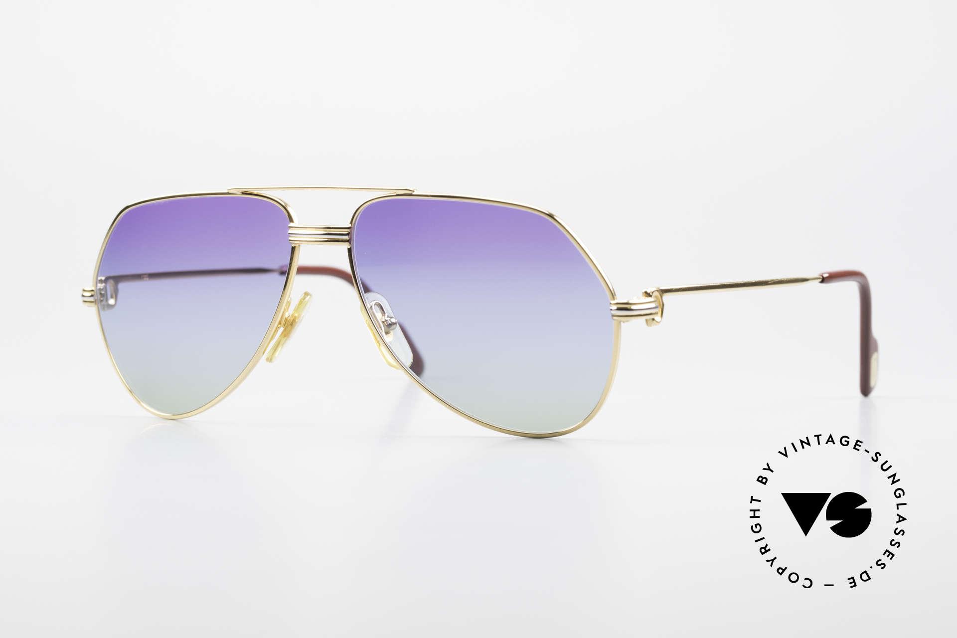 Cartier Vendome LC - S 80er Sonnenbrille Polarlicht, vintage Cartier Vendome Sonnenbrille im Aviator-Stil, Passend für Herren und Damen