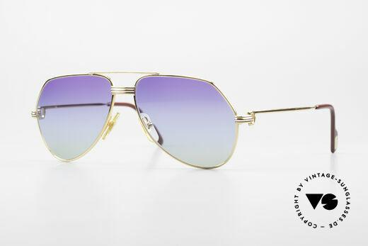 Cartier Vendome LC - S 80er Sonnenbrille Polarlicht Details