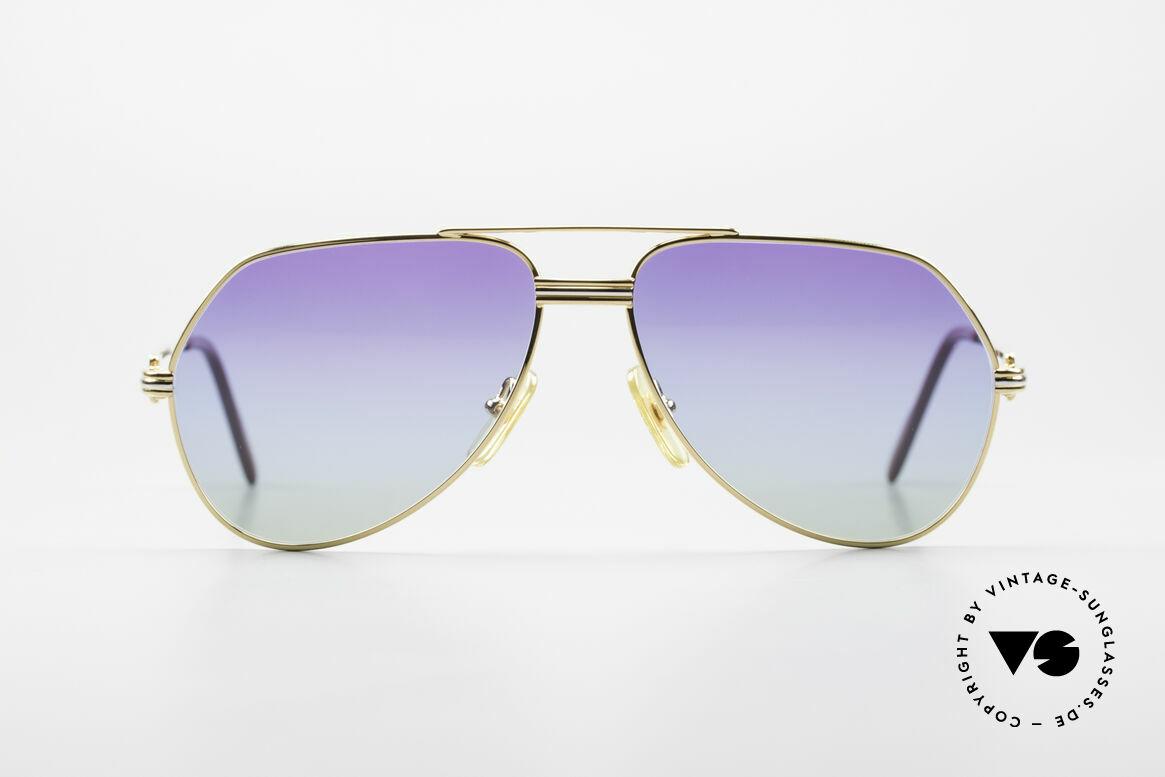 Cartier Vendome LC - S 80er Sonnenbrille Polarlicht, wurde 1983 veröffentlicht & dann bis 1997 produziert, Passend für Herren und Damen