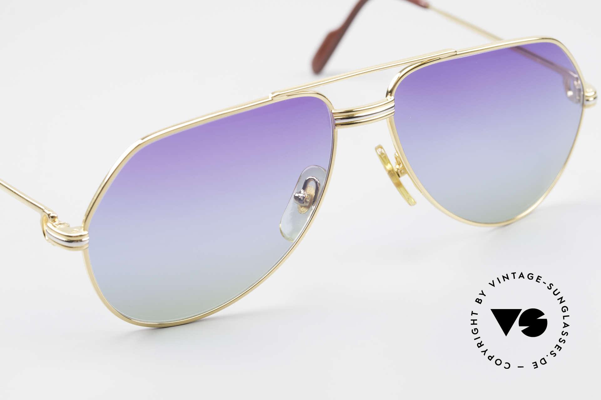 Cartier Vendome LC - S 80er Sonnenbrille Polarlicht, 2nd hand im neuwertigen Zustand und mit Cartier Box, Passend für Herren und Damen