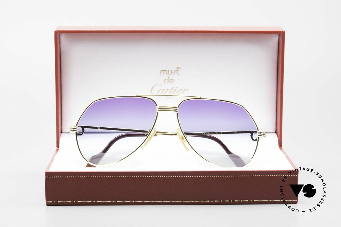 Cartier Vendome LC - S 80er Sonnenbrille Polarlicht, Größe: medium, Passend für Herren und Damen