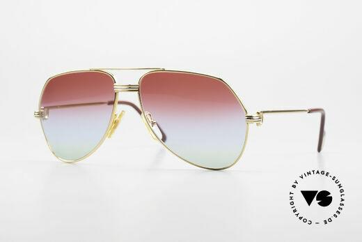 Cartier Vendome LC - S 80er Sonnenbrille Tricolored Details