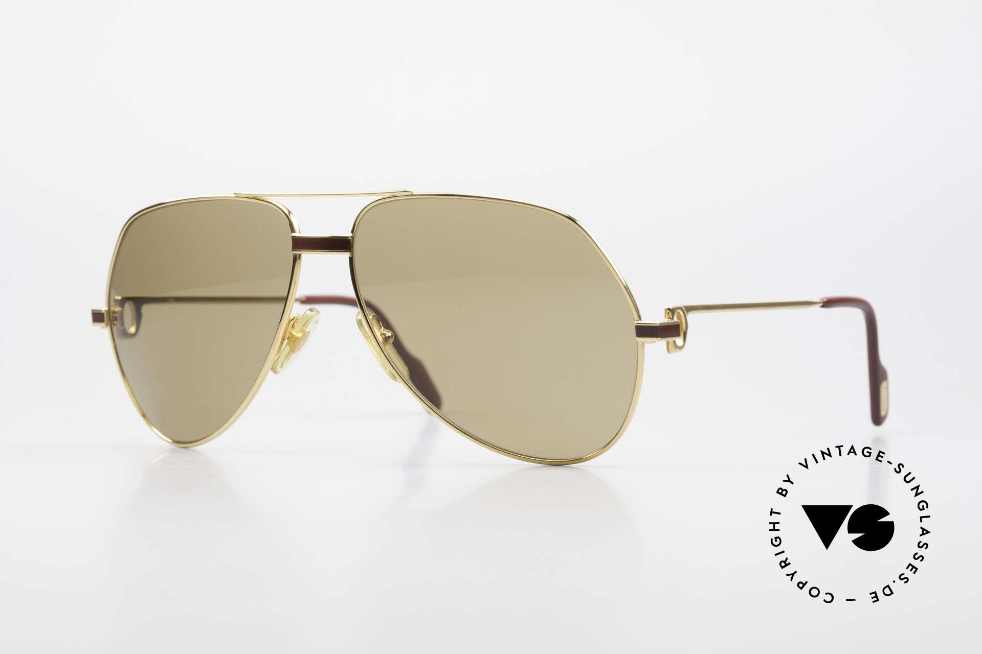 Cartier Vendome Laque - L Cartierglas Mit Hauchzeichen, Vendome = die berühmteste vintage Brille von Cartier, Passend für Herren